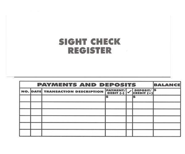 large print check register